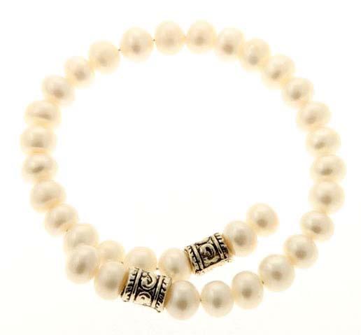 Button Pearl Wrap Bracelet