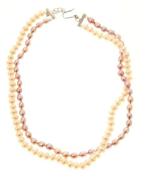 Freshwater Pearl Double Strand Necklace