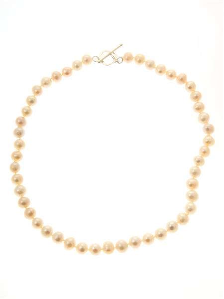 Pink Pearl Heart Clasp Necklace