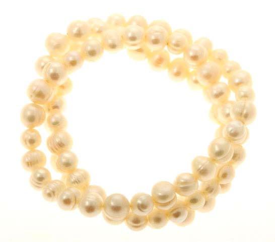 Baroque Pearl Triple Wrap Bracelet
