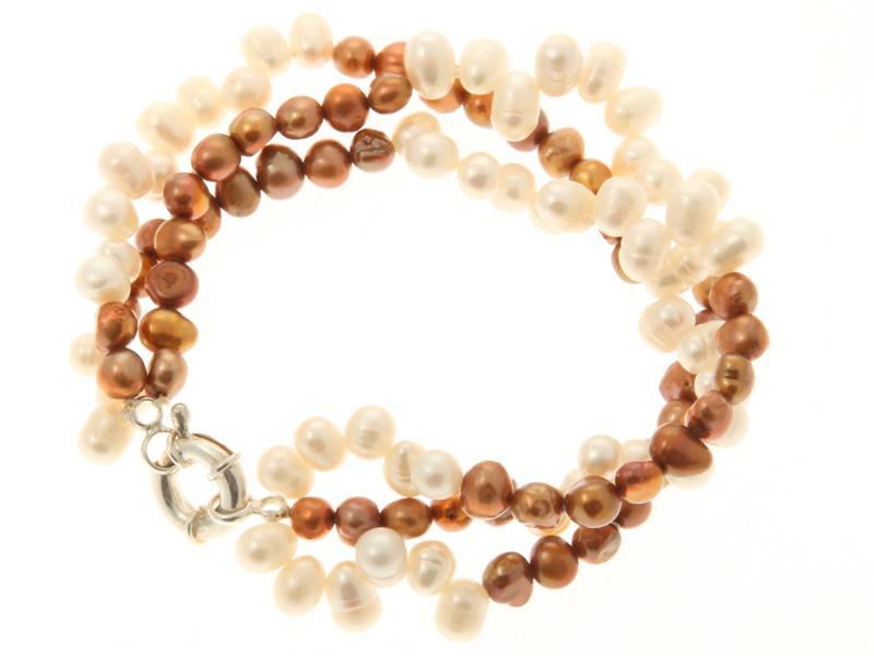 Twisted Three Strand Freshwater Pearl Bracelet